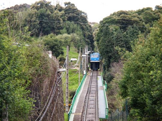Vista del funicular de La Reineta en la área intervenida