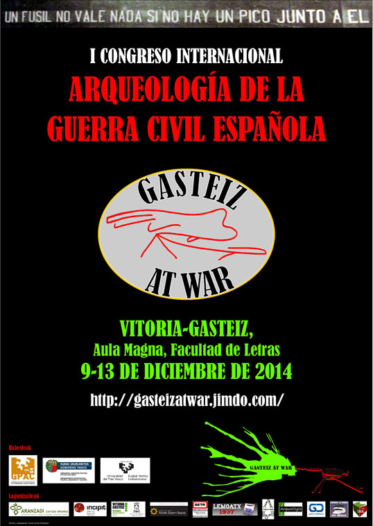 "Cartel del congreso ""Gasteiz at war"""