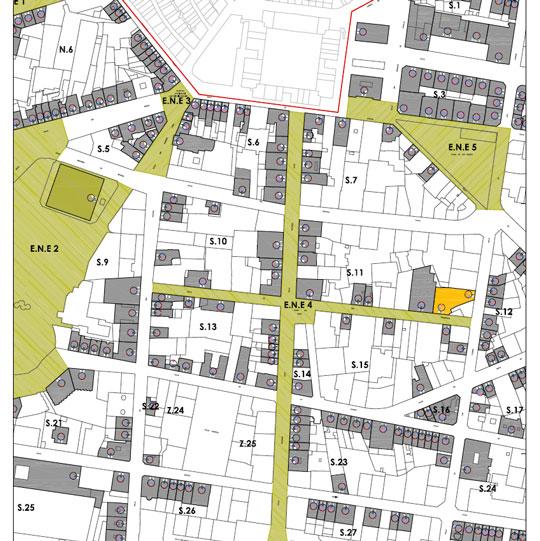 Plano detalle del ensanche de Vitoria-Gasteiz